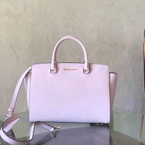 NWT Michael Kors LG Selma satchel handbag blossom